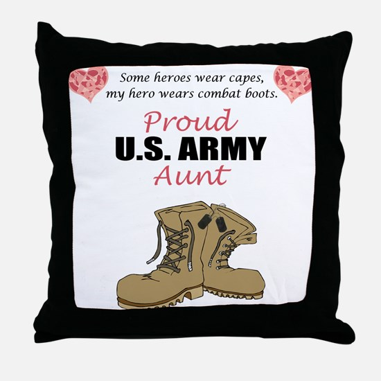 Proud US Army Aunt Throw Pillow