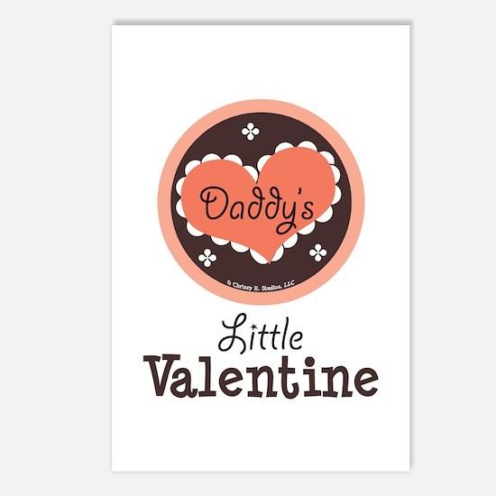 Pink Brown Daddy's Little Valentine Postcards (Pac