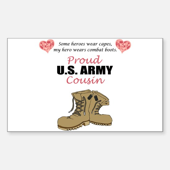 Proud US Army Cousin Rectangle Decal