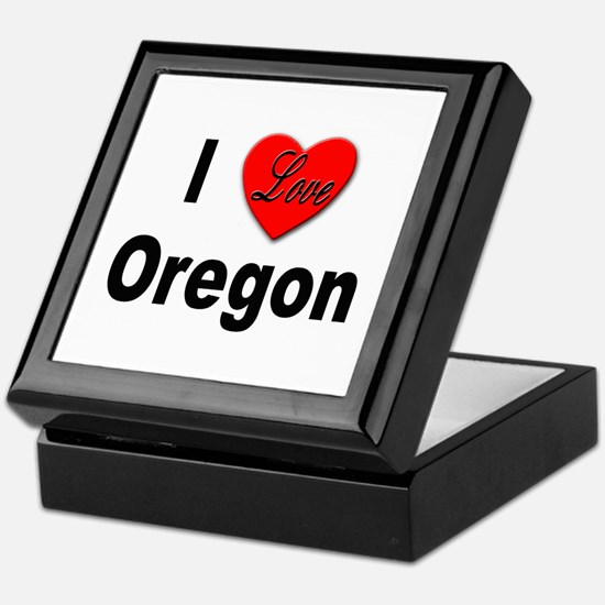 I Love Oregon Keepsake Box