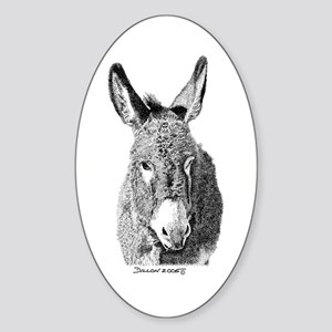 Wild Burro Oval Sticker