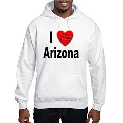 I Love Arizona (Front) Hoodie
