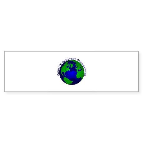 World's Greatest Geographer Bumper Sticker