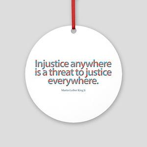 Injustice Round Ornament