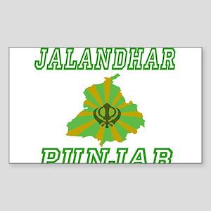 Jalandhar,Punjab Rectangle Sticker