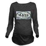 Maui t-shirt copy Long Sleeve Maternity T-Shir