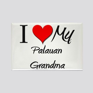 I Heart My Palauan Grandma Rectangle Magnet