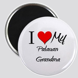 I Heart My Palauan Grandma Magnet