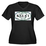 Kauai t-shirt copy Women's Plus Size V-Neck Da
