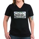 Kauai t-shirt copy Women's V-Neck Dark T-Shirt