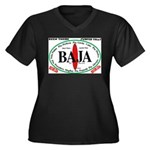 Baja Sur10x8 Women's Plus Size V-Neck Dark T-S