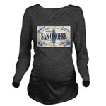 San Onofre Long Sleeve Maternity T-Shirt