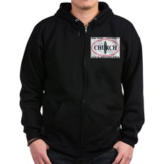Church,Calif. Zip Hoodie (dark)