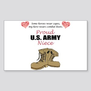Proud US Army Niece Rectangle Sticker