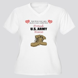 Proud US Army Niece Women's Plus Size V-Neck T-Shi
