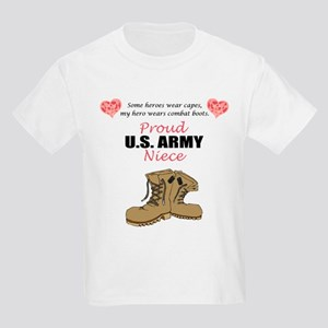Proud US Army Niece Kids Light T-Shirt