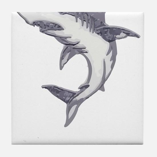 Shark Design Shark Print Art Birthday Tile Coaster