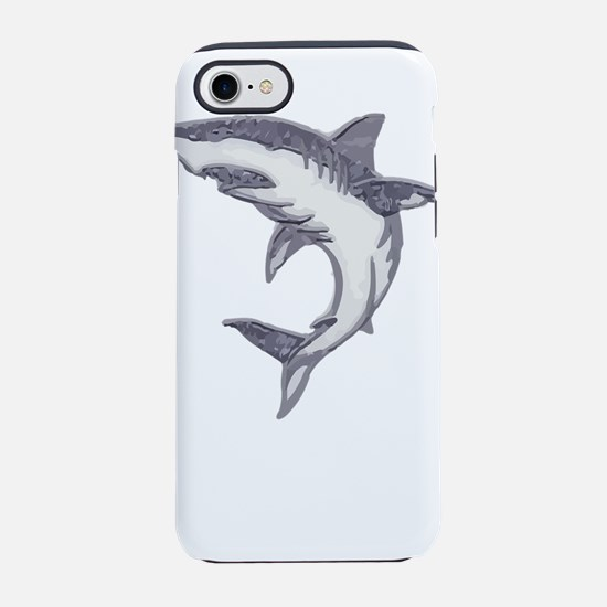 Shark Design Shark Print Art iPhone 8/7 Tough Case