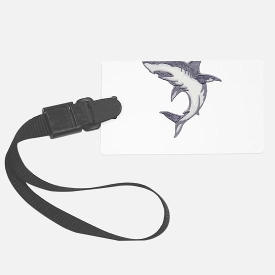 Shark Design Shark Print Art Bir Luggage Tag