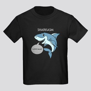 Sharkasm I Love Salad Design Shark Print A T-Shirt