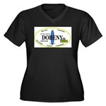 Doheny Surf Breaks Women's Plus Size V-Neck Dark T