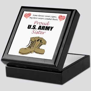 Proud US Army Sister Keepsake Box