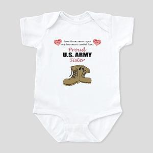 Proud US Army Sister Infant Bodysuit