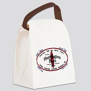 HuntingtonBeach Canvas Lunch Bag