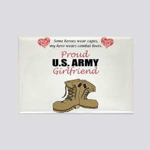 Proud US Army Girlfriend Rectangle Magnet