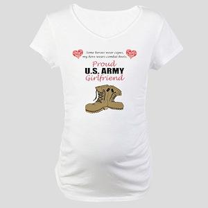 Proud US Army Girlfriend Maternity T-Shirt