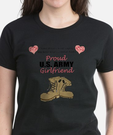 Proud US Army Girlfriend Women's Dark T-Shirt