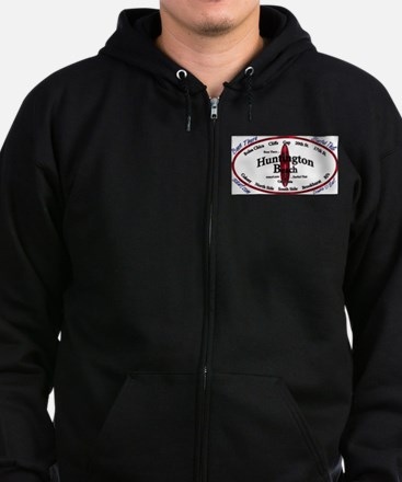 HuntingtonBeach Zip Hoodie (dark)