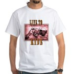 LIVE to RIDE White T-Shirt