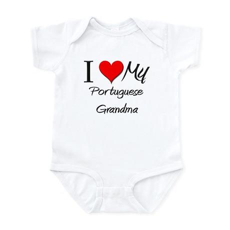 I Heart My Portuguese Grandma Infant Bodysuit