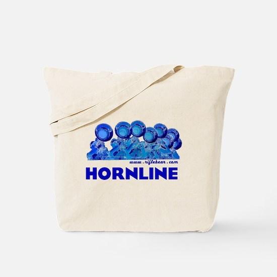 Hornline Blue Tote Bag