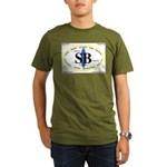 Santa Barbara,Calif. Organic Men's T-Shirt (dark)