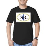 Santa Barbara,Calif. Men's Fitted T-Shirt (dark)