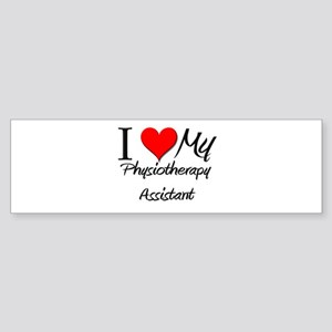 I Heart My Physiotherapy Assistant Sticker (Bumper