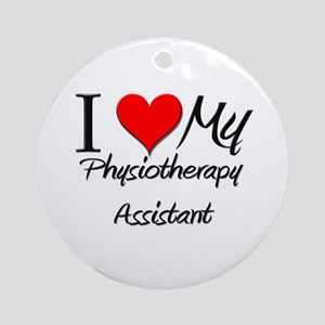 I Heart My Physiotherapy Assistant Ornament (Round