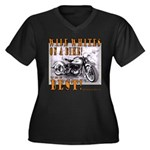 WIDE WHITES on a BIKE Women's Plus Size V-Neck Dar