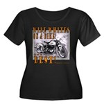WIDE WHITES on a BIKE Women's Plus Size Scoop Neck