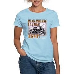 WIDE WHITES on a BIKE Women's Light T-Shirt