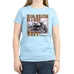WIDE WHITES on a BIKE Women's Light T-Shirt
