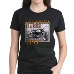 WIDE WHITES on a BIKE Women's Dark T-Shirt