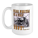 WIDE WHITES on a BIKE Large Mug