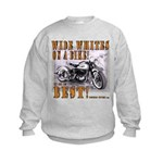WIDE WHITES on a BIKE Kids Sweatshirt
