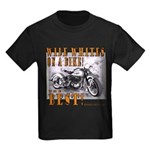 WIDE WHITES on a BIKE Kids Dark T-Shirt