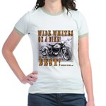WIDE WHITES on a BIKE Jr. Ringer T-Shirt