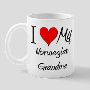 I Heart My Norwegian Grandma Mug