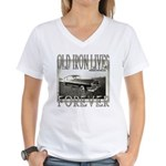 OLD IRON Women's V-Neck T-Shirt